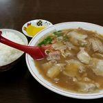 39926705 - チャーシュー麺700円とライス200円 計900円