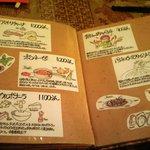unomundo - 「テーブルメニュー」イラストや文字は店主の直筆(見てるだけでも楽しくなります)