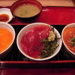 築地食堂 源ちゃん - 3種の小鉢丼