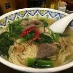 中国ラーメン揚州商人 - 牛肉のあっさり激辛ラーメン