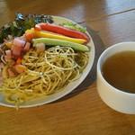 エディブルガーデン - サラダとスープはご自由に