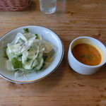 39932742 - サラダとスープ
