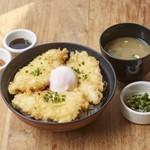DONBURI & COMPANY - 富士の鶏をサクッとてんぷらに!タレとポン酢ジュレの2つの味を