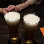 yoshiyuki - ビールで乾杯です