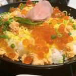 すいどうばし 越州 - 鮭いくら丼