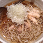 山形蕎麦と炙りの焔蔵 定禅寺通り店 - 冷たい肉そば 大盛 アップ