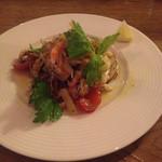 ダイニング アッシュ - 海鮮マリネ。夏の野菜と魚介でさっぱりと。
