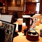 大江戸食堂 - 今日はカウンター席に通されました。