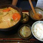 久佐手打そば - 料理写真:味噌うどん定食。