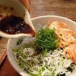 キチプラス - 三色丼に生姜醤油