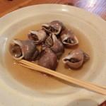 和田浜 - つぶ貝煮付800円
