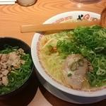 よってこや - 京都鶏ガラとんこつスープ醤油ラーメン大ネギチャーシューご飯