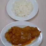 肉のますゐ - 肉のますゐ(広島市中区八丁堀)サービストンカツ(ライス付)350円