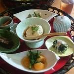 帝釈峡観光ホテル別館養浩荘 - 朝食の籠盛り