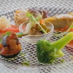 カフェ オリーブ - 季節の野菜前菜7種盛り合わせ