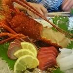 帝釈峡観光ホテル別館養浩荘 - 伊勢海老と鮮魚