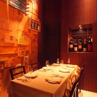 全席個室がシーンに合わせて使える銀座のイタリアン&ワイン