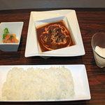 AKASAKA - 牛ホホ肉デミグラス煮込みセット