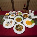 阿城中華料理店 - 料理写真:大豆まるごとミートコース お一人3,500円 二人前より承ります