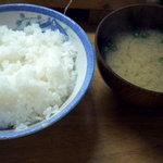 食堂谷 - ご飯とお味噌汁です