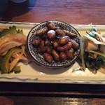 Kuronekoyoru - おつまみ3種 ゴーヤ炒め ピーナッツ炒め 搾菜炒め