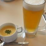 39975266 - ランチスープとビール