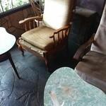 喫茶マドラグ - お一人様に案内されたのは入ってすぐの席。