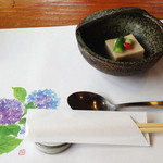 旬菜千味 さぎ草 - 胡麻豆腐。すっごく美味しかった