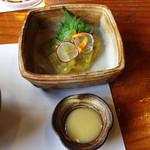 旬菜千味 さぎ草 - 綺麗な色のこんにゃく♪