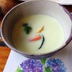 旬菜千味 さぎ草 - 量もたっぷりの枝豆スープ