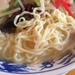 あづまや - 野菜塩タンメン麺拡大