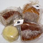 タロー屋 - イベントで購入したパン4点(2015年5月)