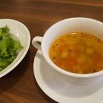 39980264 - サラダとスープ