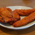 インドカレー料理ナマステグル - ナマステグルセットのタンドリーチキンとラムカバブ『2015.7月再訪』