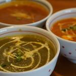 インドカレー料理ナマステグル - ナマステグル選べる3種のカレー『2015.7月再訪』