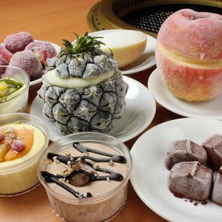 10種類以上の豊富なデザート