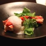 KAZAN - タラバ蟹のリゾット アサリの泡で (2015/06)