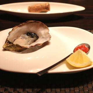 KAZAN - 南オーストラリア 生牡蠣 キャッツアイ 西洋山葵のソースとレモンで (2015/06)