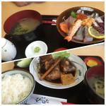 ひらはた - 同僚の頼んだ海鮮丼1200円とあら炊き定食1400円(^^)