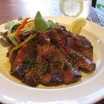 Cafe fudoki - 料理写真:国産牛リブロースステーキ
