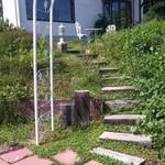 手賀カフェ - ガーデン入口