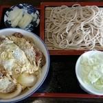 玉川屋 - ミニかつ丼もり蕎麦セット 900円