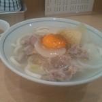 あづま - シチューうどん500円+生卵50円