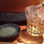 鮨割烹 廉 - 梅酒、熱海っ娘、ロックで