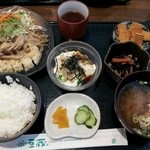 とうふや豆蔵 - 和風ハンバーグ定食