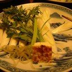 すき亭 吉寅 - すこし手をつけた後ですが、お野菜のお皿(2人前)