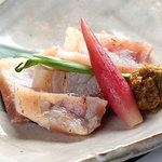 旬味 いやさか - 豚ローストマト西京焼
