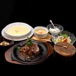 二本松 - 料理写真:ステーキ遊膳 1850円<ランチ>