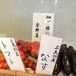 カフェ ド サラン - 地元畑で採れた本当の京野菜を使ってます。1