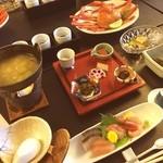 赤倉温泉 ホテル秀山 七つの扉 - 料理写真:ホテルで宴会〜。